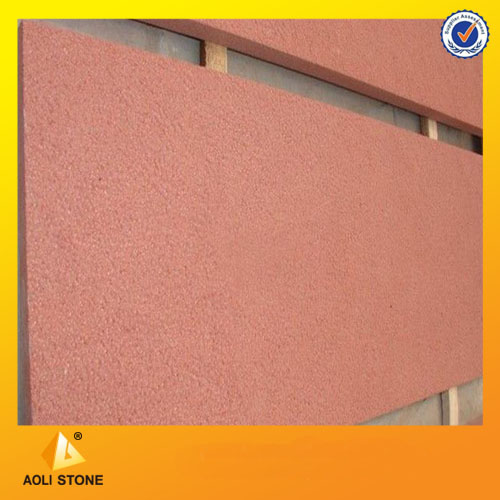 Red sandstone wall tiles for exterior wall