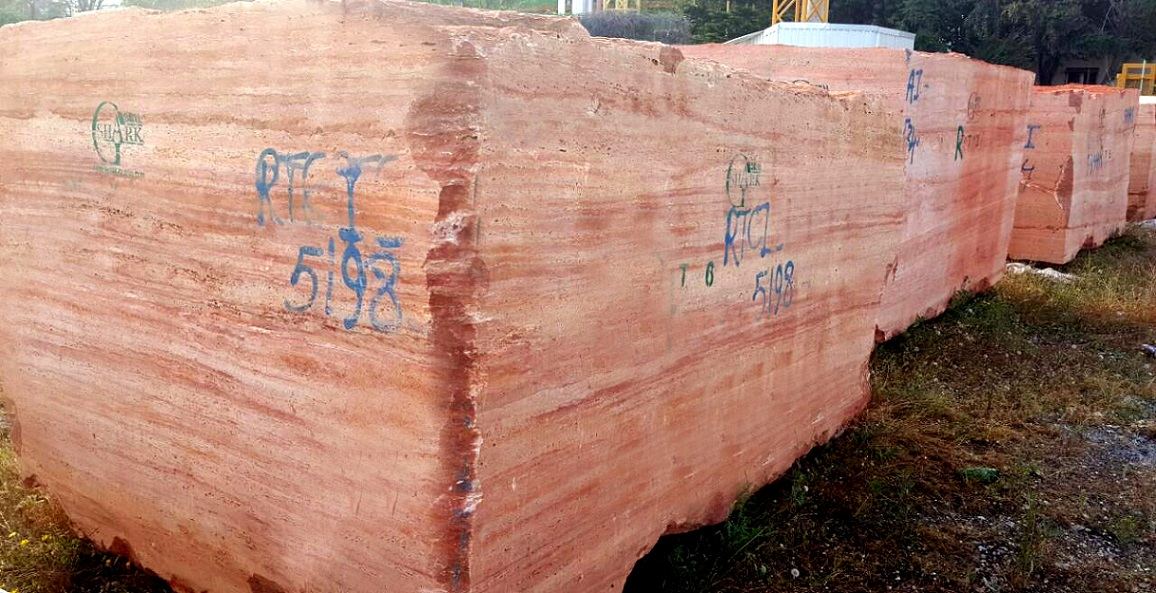 Red Travertine Blocks from Turkey Supplier