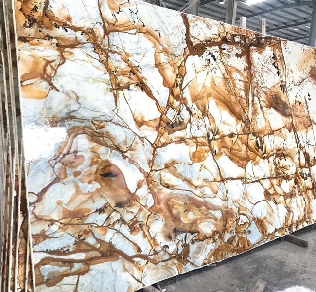 Polished Blue Roma Quartzite Interior Stone Slab