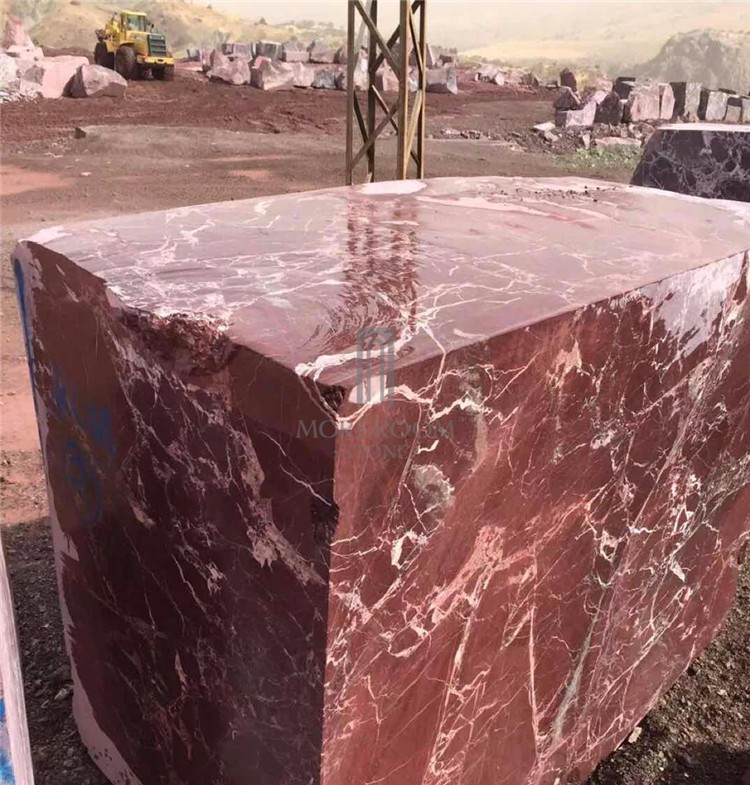 Rosso Levanto Marble Natural Blocks