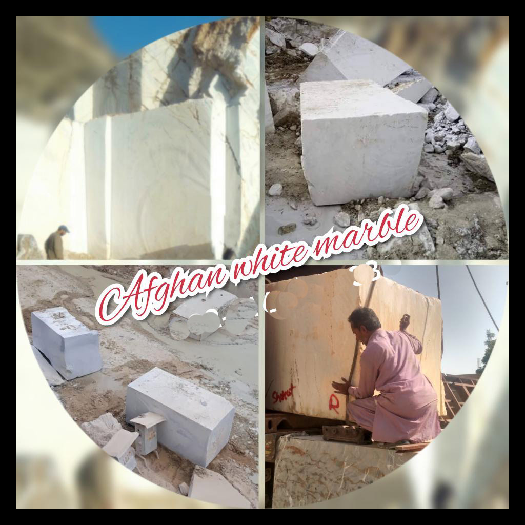 Afghan white marble blocks