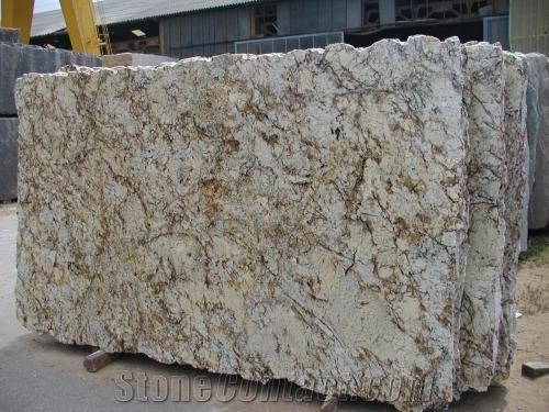 Rusty silver granite
