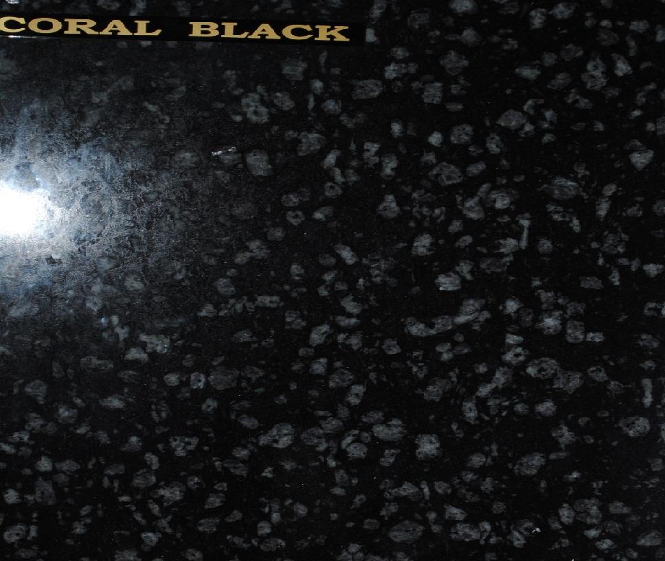 Sah Coral Black Granite