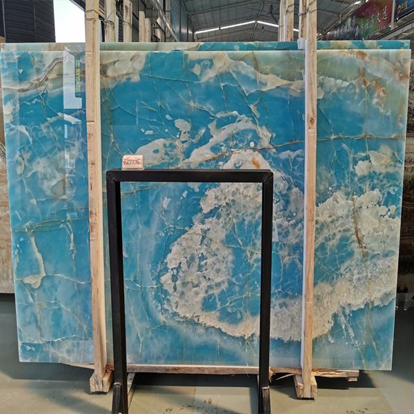 Sea Blue Onyx Big Slab