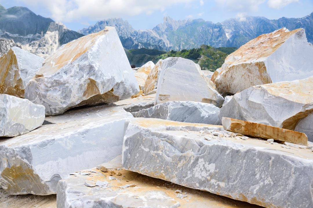 Shapeless Carrara Marble Blocks