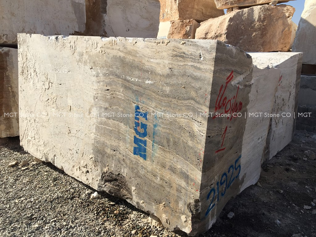 Iranian Silver Travertine Block