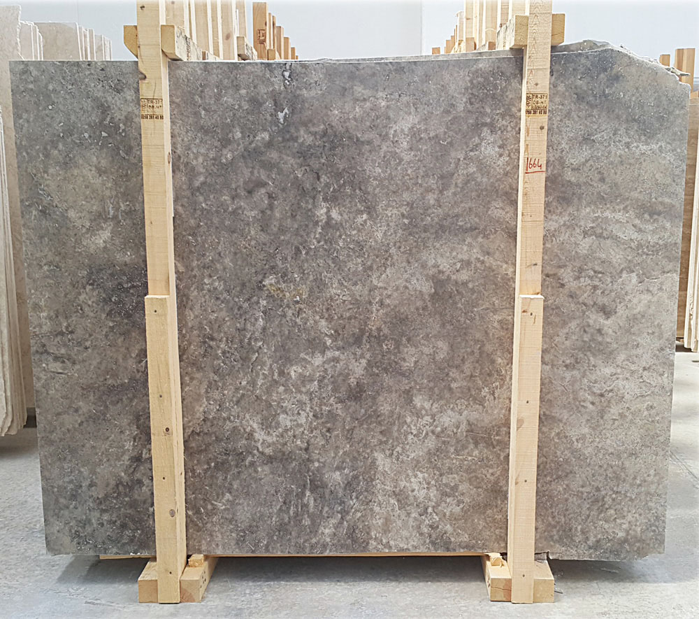 Turkish Silver Traverine Slab Cross Cut