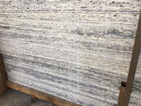 Silver Light Travertine slab