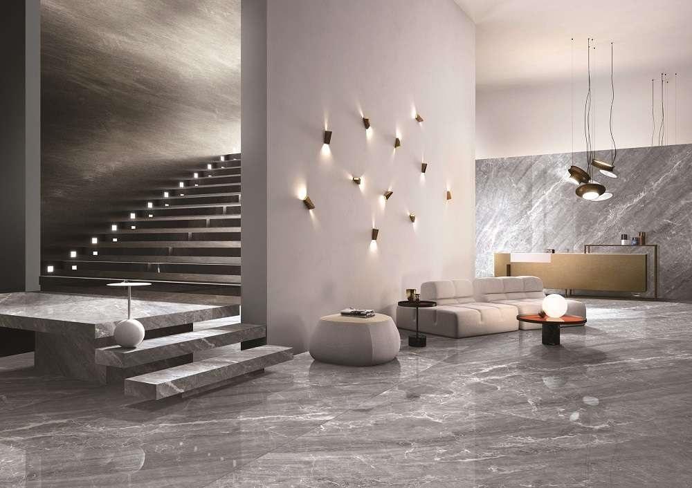silver mink porcelain slab wall tile