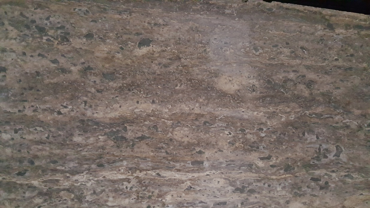 silver travertine stone