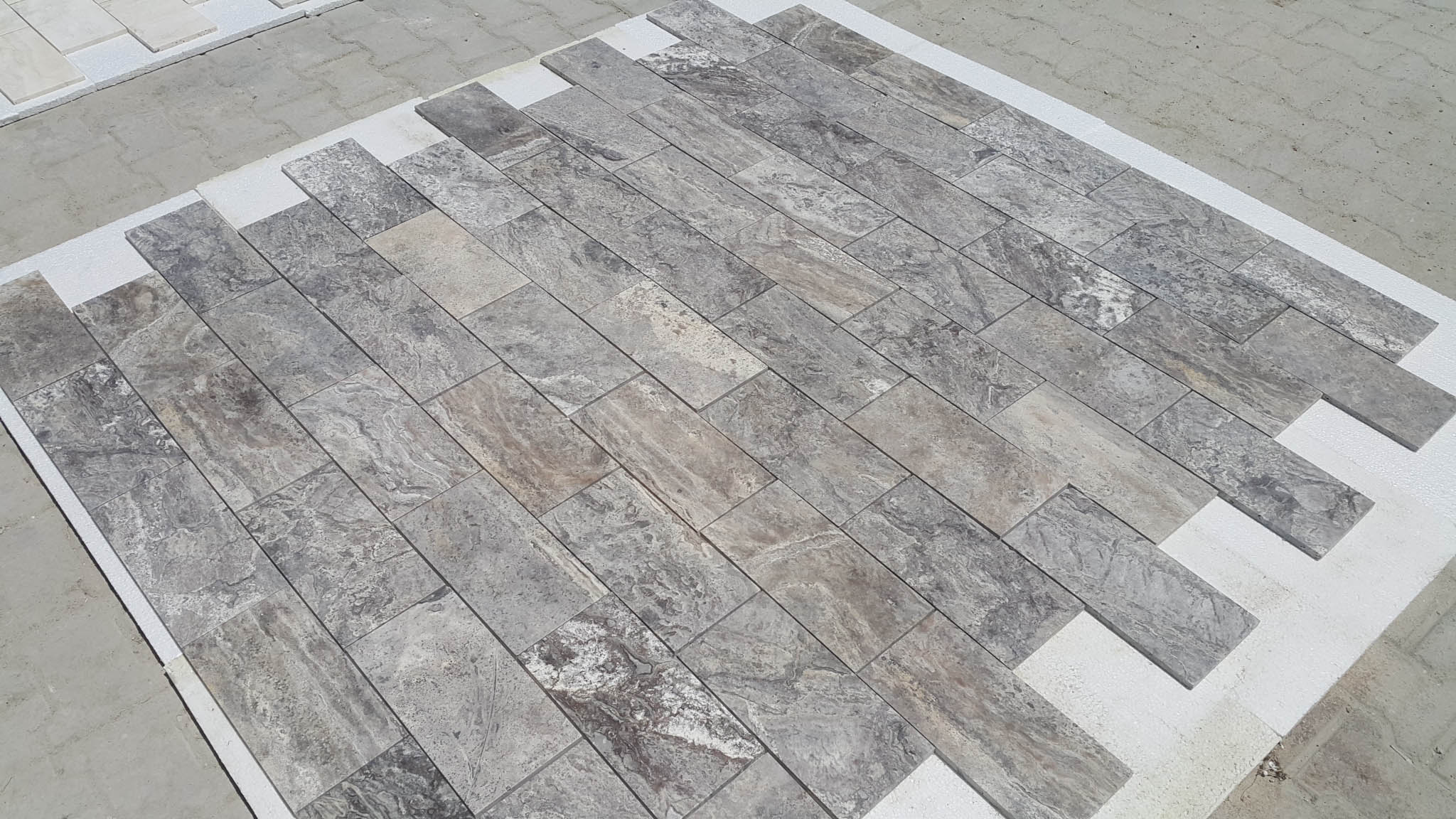 High Quality Turkish Silver Travertine tiles
