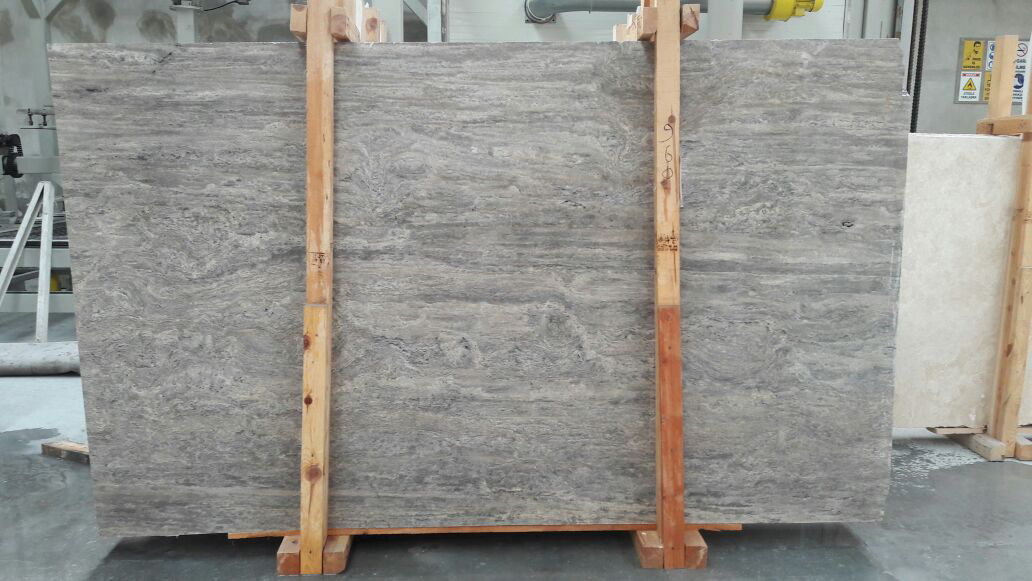 Silver Grey Travertine Vein Cut Slabs