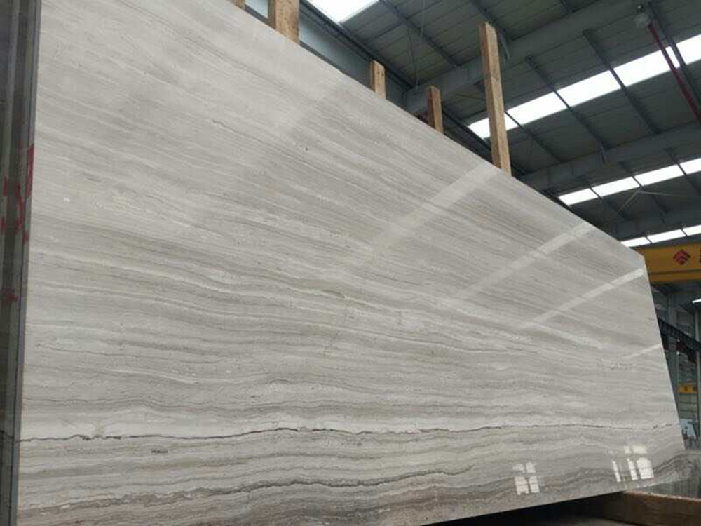 Chinese Marble grey wood big slabs for projects