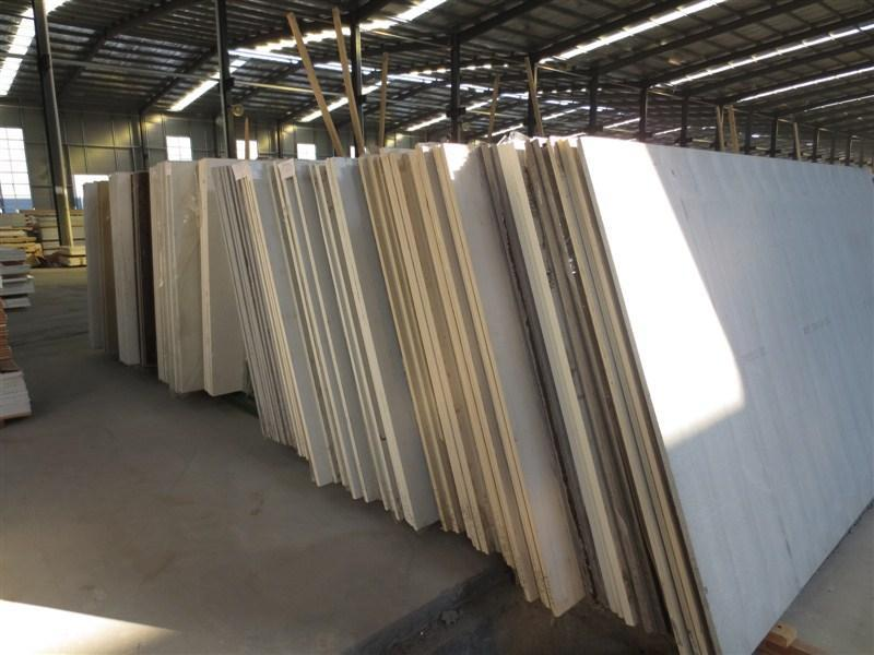Quartz stone white slabs