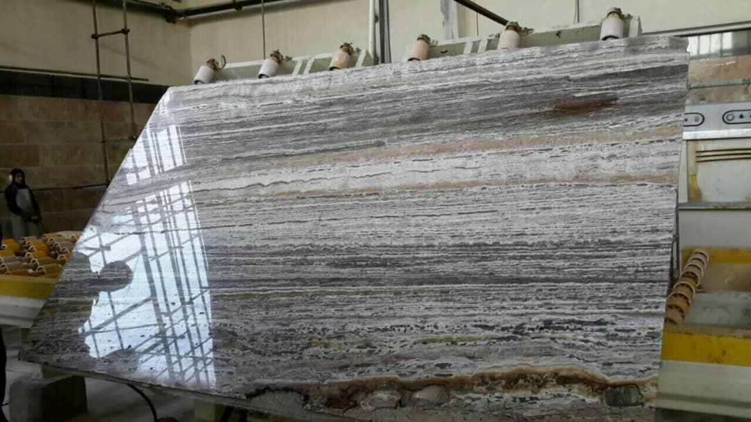 Titanium Travertine Polished Slabs