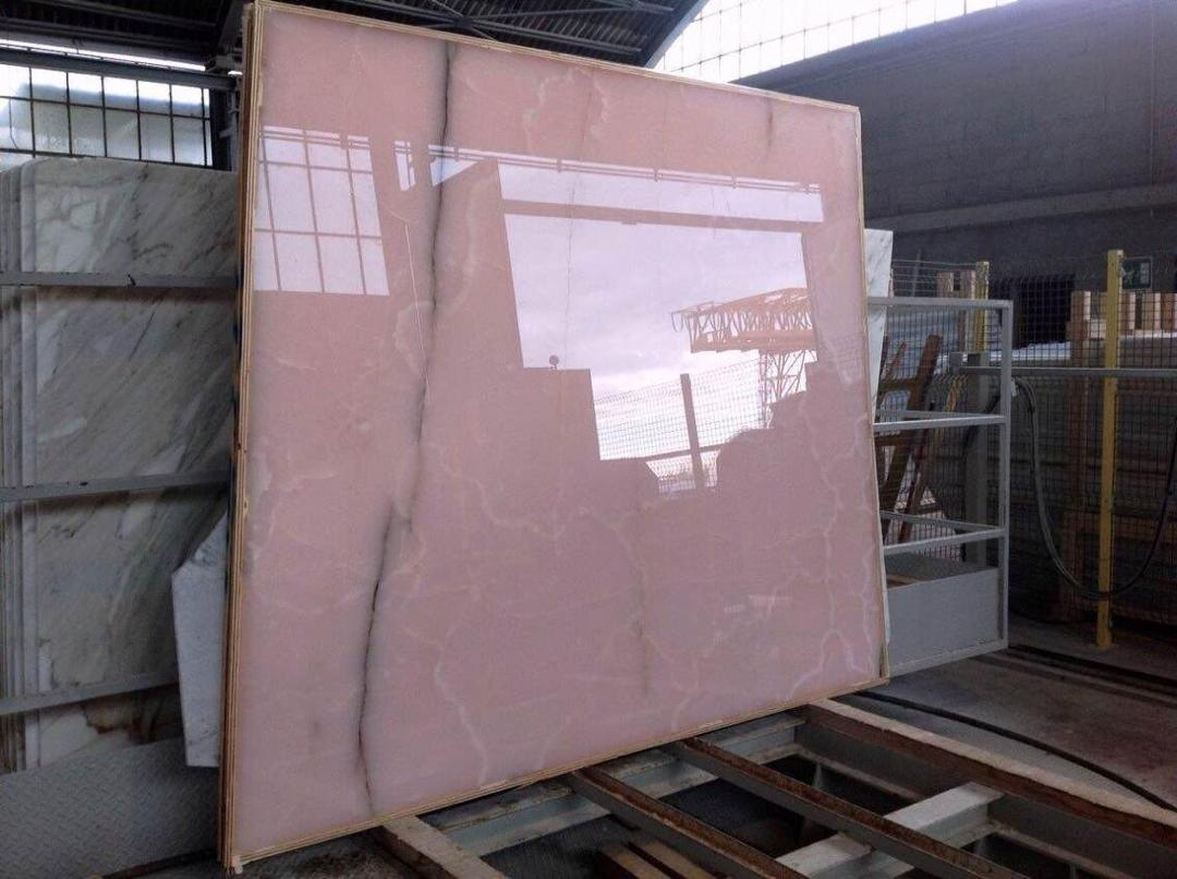 pure pink onyx marble slab