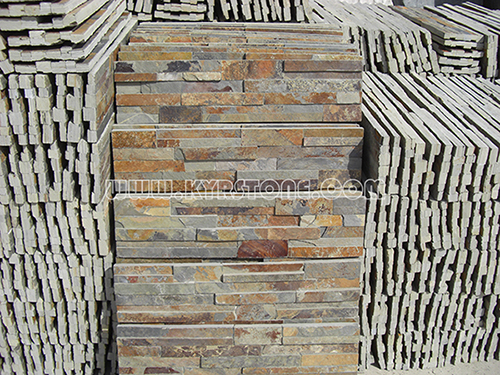 KYRSTONE Natural Rusty Slate Culture Stone for Interior & Outside Wall Panels roofing