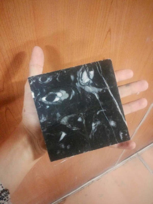 Black ocean small tile