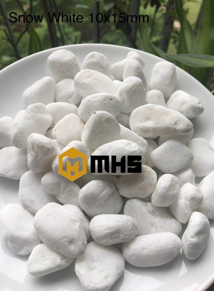 White tumbled pebble