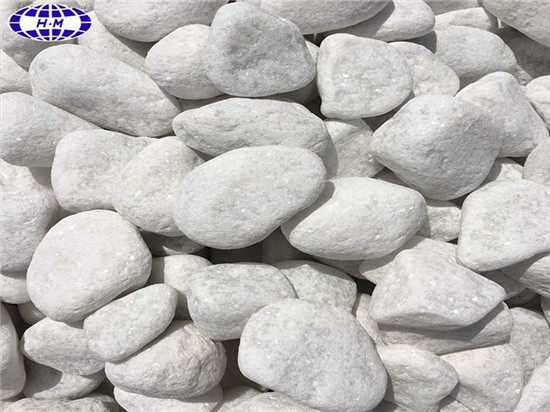 Snow White Pebble Paving Stones