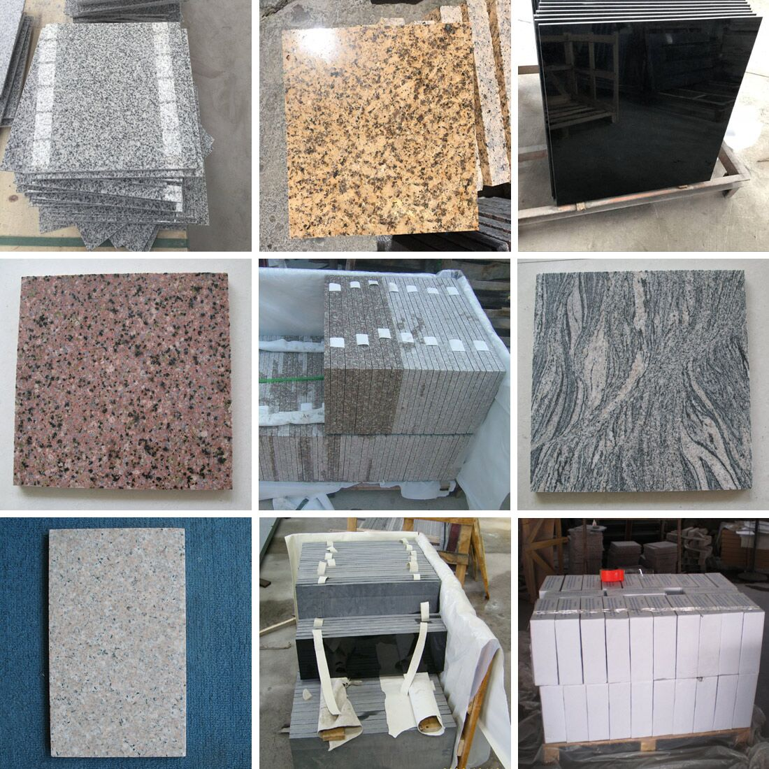 China Polished Granite Tiles for Flooring and Walling