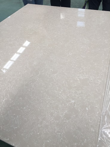 Sparkle color artificial quartz stone for countertops