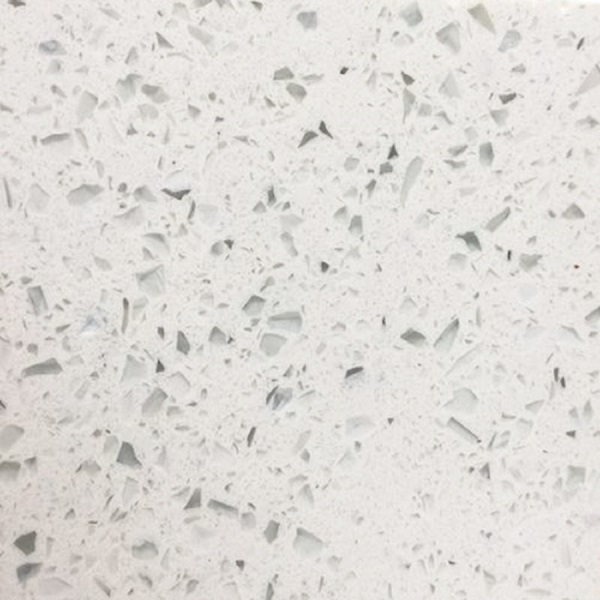 sparkle white quartz stone slab
