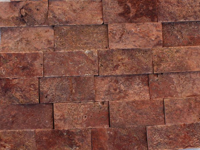 Split Stone Red Travertine Split