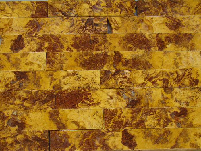 Split Stone Mixed Of Four Colors Of Travertine