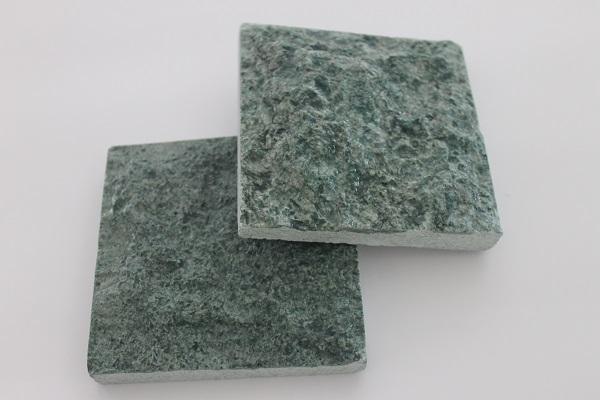Green Sukabumi Stone Rough Face Pool Tiling