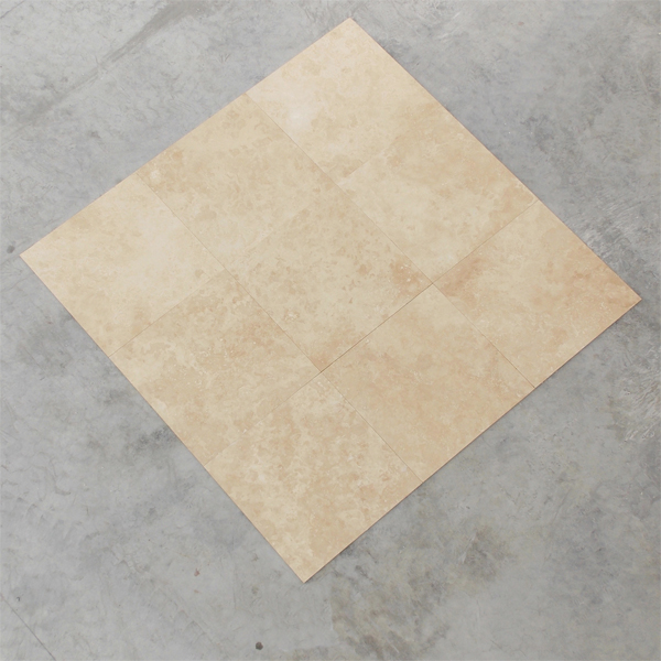 Super Light Ivory Tumbled Travertine Pavers