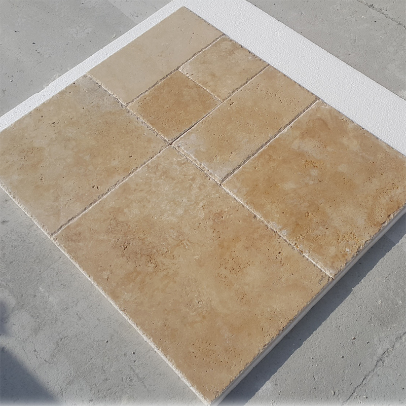 Versailles Pattern Travertine Set