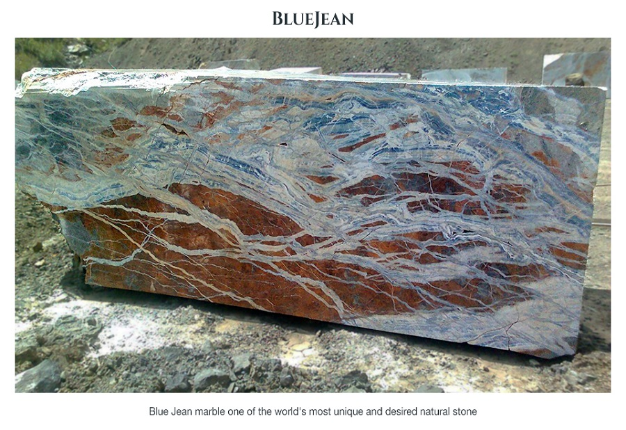 Natural Stone Blocks Blue Jean Marble