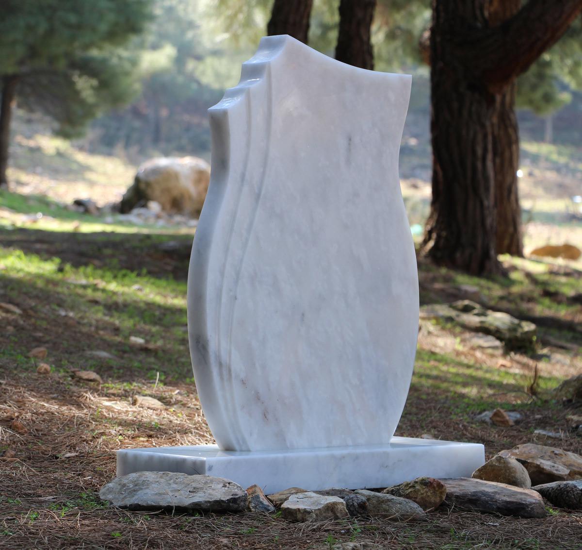 White Marble Headstone