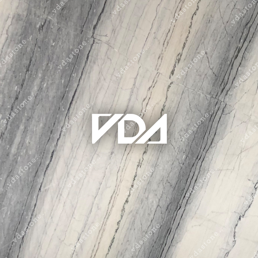 Vein Cut White & Grey Marble Q