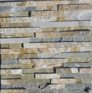 outside wall stone material 3D style exterior culture stone in yellow color