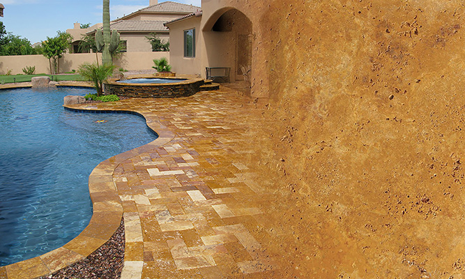 Gold Travertine Paver