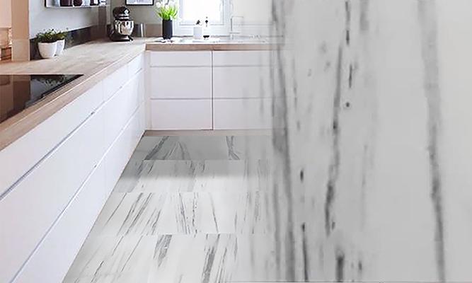 Mende White Line Marble