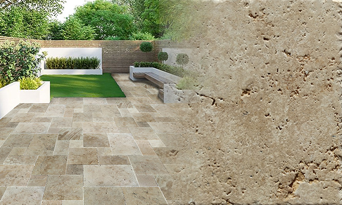 Scott Rustic Pattern Set Travertine