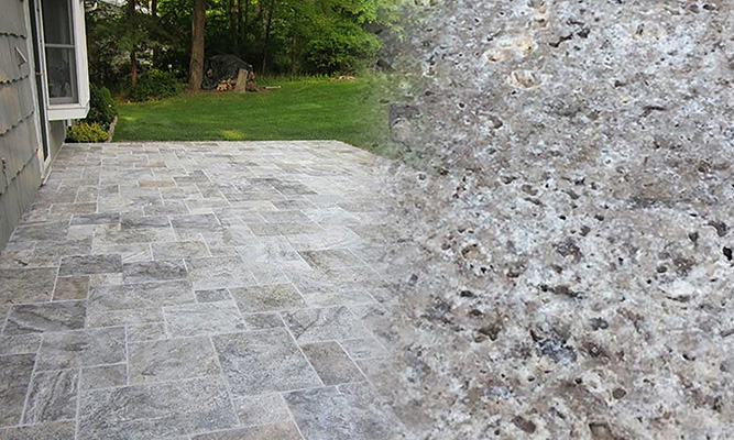 Silver Antique Travertine