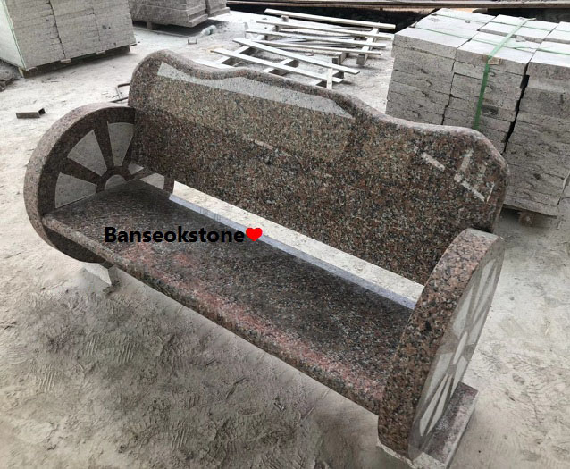 Maple Red Granite bench granite chairs