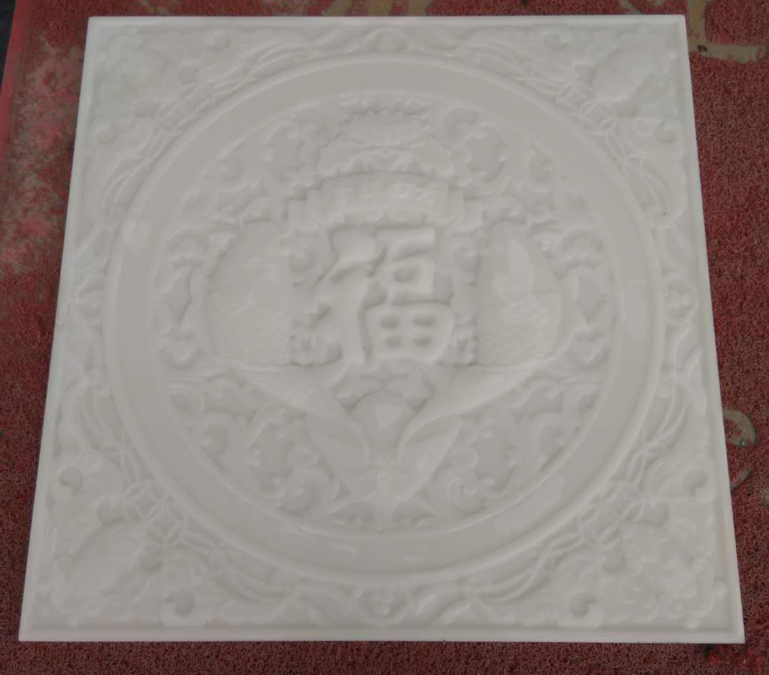 China White Jade stone carving made of marble