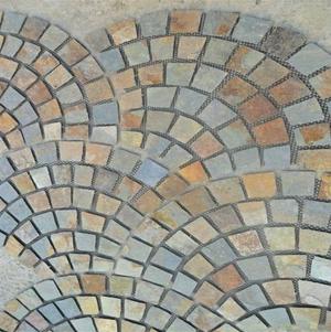 natural rusty paving slate garden landscape stones