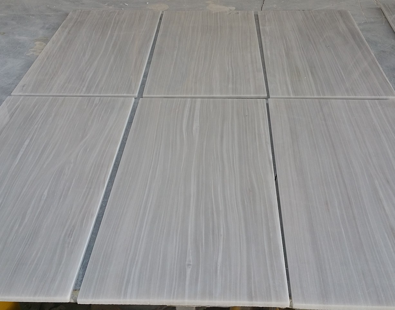 Striato Argento White Marble Tiles