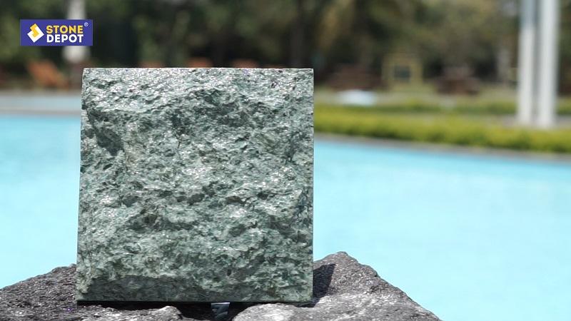 Green Sukabumi Stone Pool Tiles