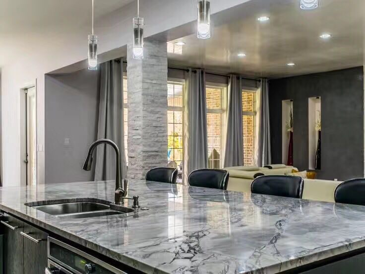 Super White Quartzite for Countertops