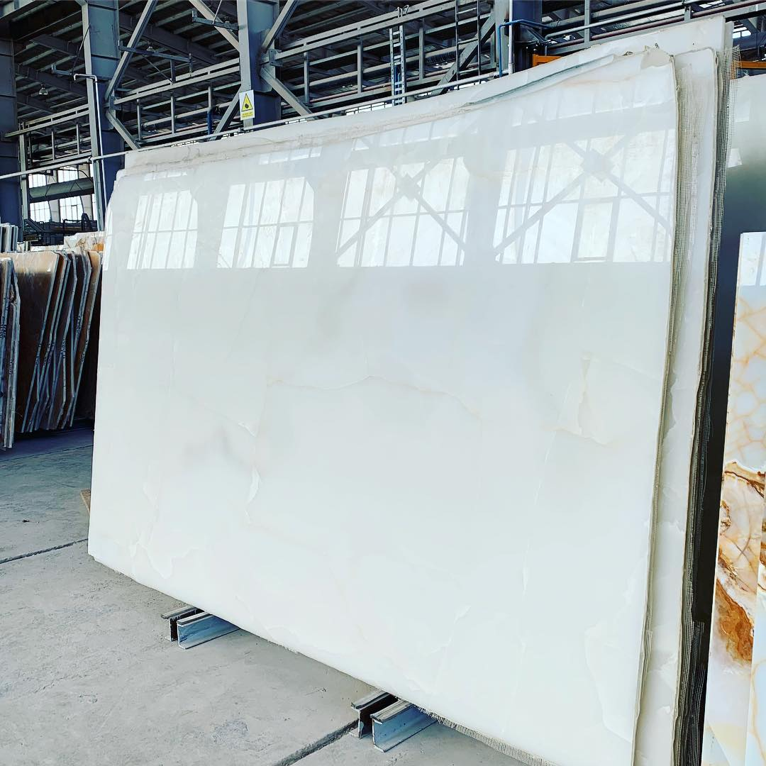 White Onyx Polished Stone Slabs