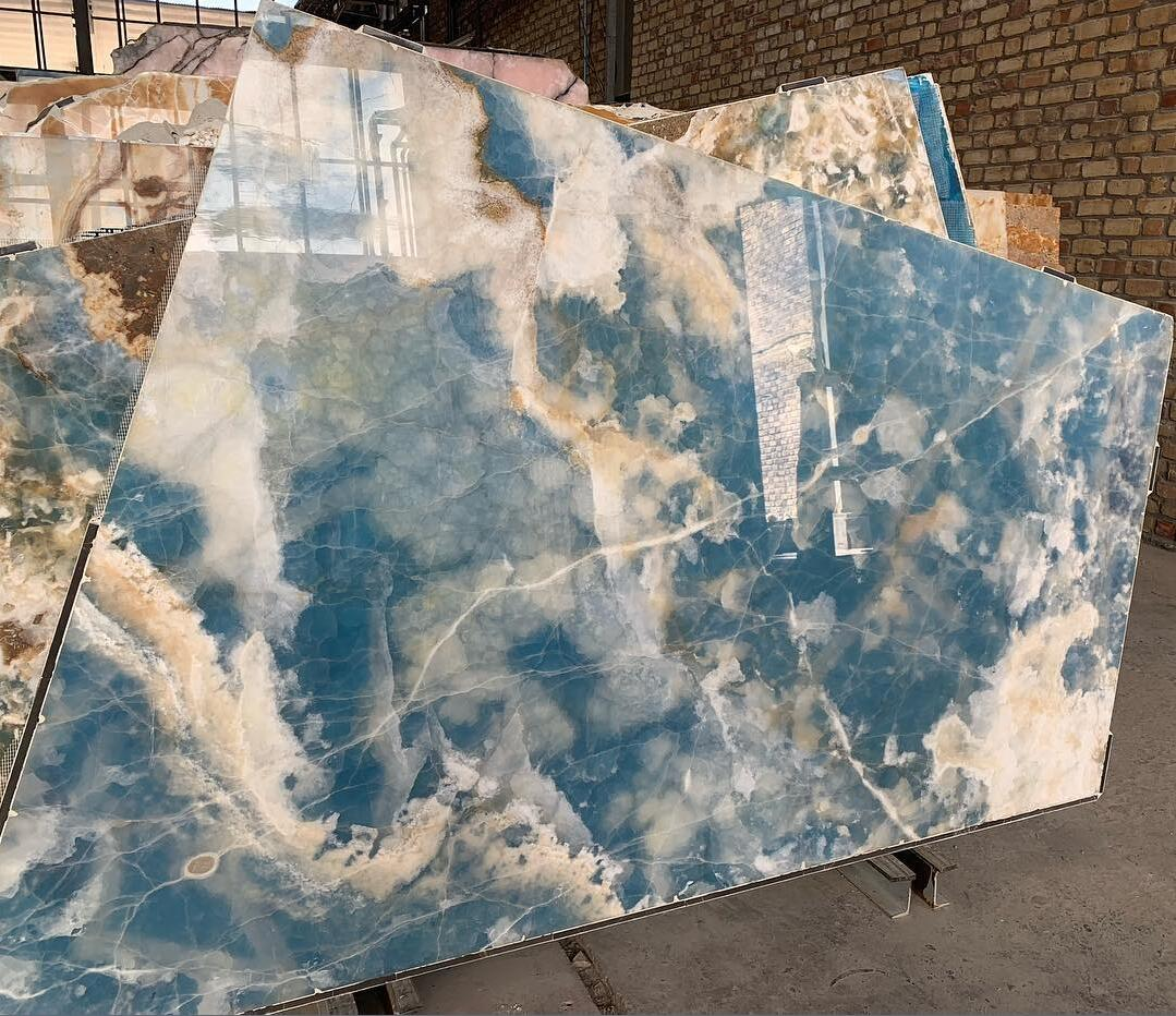 Blue Onyx Polished Stone Slabs