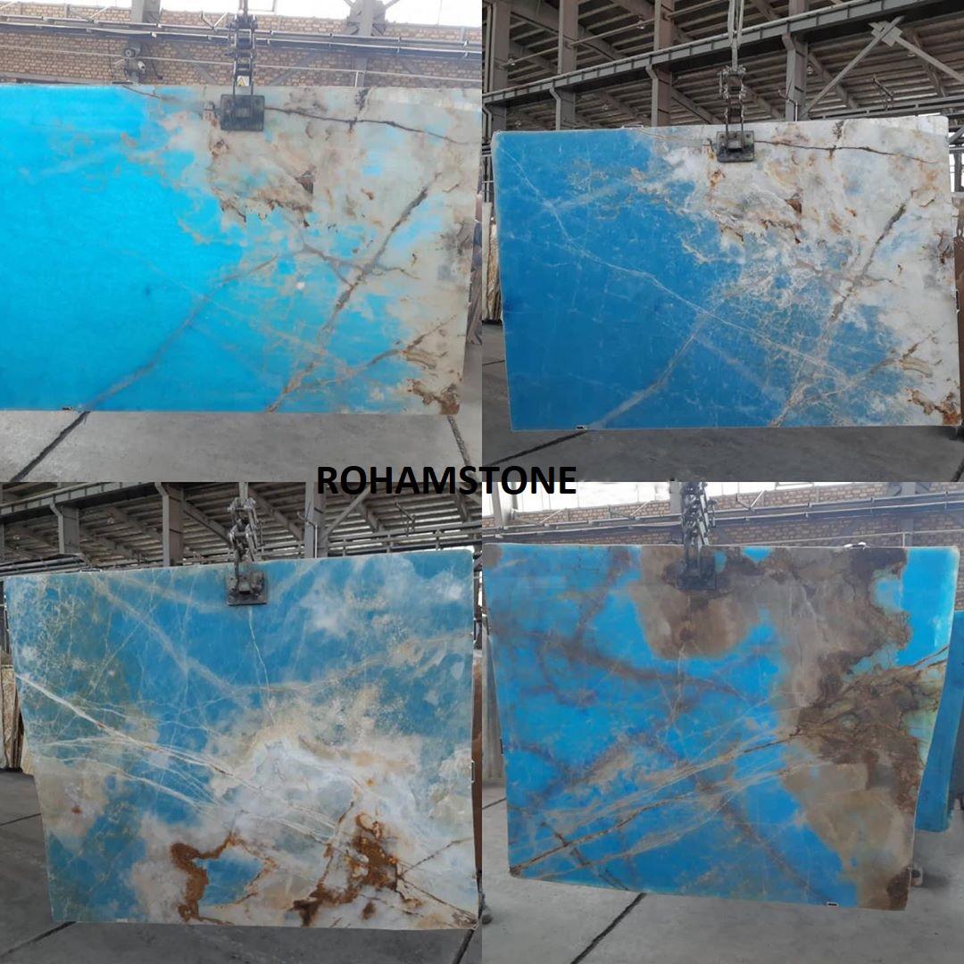 Blue Onyx Polished Onyx Stone Slabs