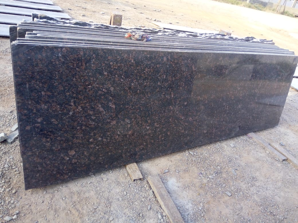 Tan Brown Stone Granite Polished Slabs